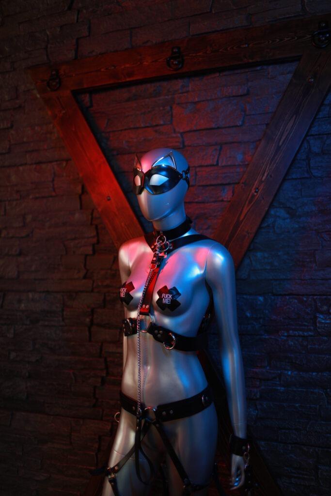 kink, 50 shades of grey, boudoir, red room, saint andrews cross, honey birdette, honey birdette sex swing, domme, marie murr